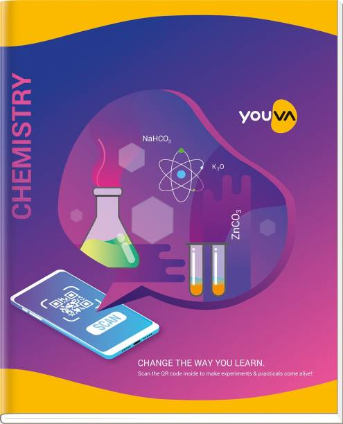 NAVNEET Youva Hard Bound Chemistry Practical Book 21.5x26.5 cm Regular Notebook 1 Side Ruled & 1 Side Plain 176 Pages