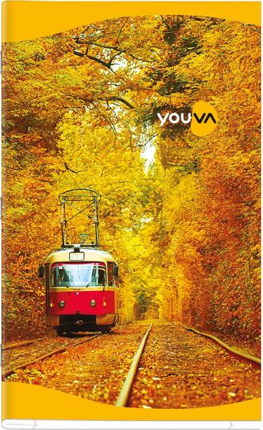 NAVNEET Youva Soft Bound Long Book 19x31 cm Assorted Notebook Single Line 160 Pages