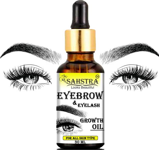 SAHSTRA Eyebrow & Eyelash Growth Oil For Women - Strength with Pure Natural Ingredient For Healthy 30 ml
