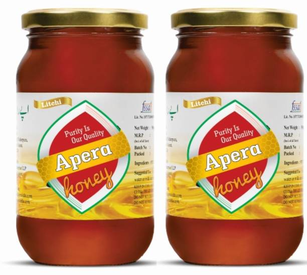 APERA Litchi Honey | Pure and Natural | Unpasteurized | Pack of 2
