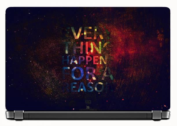 KALARKARI Laptop Skin Motivaitonal Quotes Premium Matte vinyl HD printed Easy to Install Laptop Skin/Sticker/Decal/Vinyl/Cover for all size laptops upto 15.6 vinyl Laptop Decal 15.6