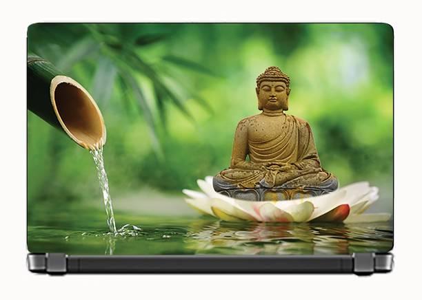 KALARKARI Laptop Meditating Lord buddha_Nature Premium matte finish vinyl HD printed Easy to Install Laptop Skin/Sticker/Vinyl/Cover for all size laptops upto 15.6 inches vinyl Laptop Decal 15.6