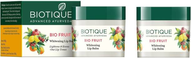 BIOTIQUE FRUIT WHITENING LIP BALM LIGHTENS & EVENS-OUT LIP TONES 12GM FRUIT