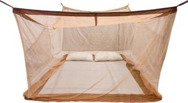 GRINAF Polyester Adults Single bed 4x6 feet brown Mosquito Net