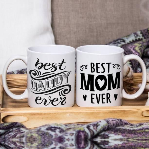 Flipkart SmartBuy Best Mom & Dad Ever Ceramic Coffee Mug