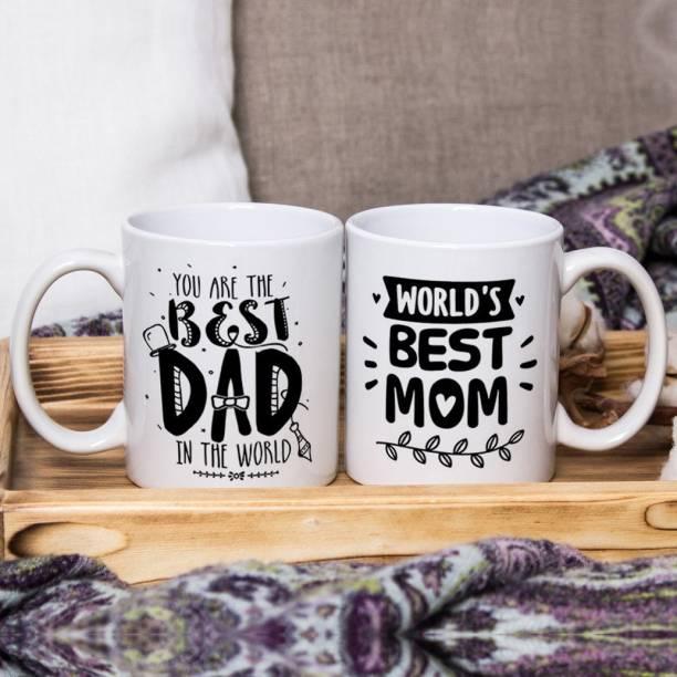 Flipkart SmartBuy You are the best Dad & Mom Ceramic Coffee Mug