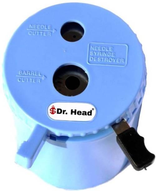 Dr. Head Syringe Needle Destroyer Manual Plastic Needle Cutter | Needle Burner |Hub Cutter | ABS Needle And Syringe Destroyer Non-Electric For Clinics/Hospitals/Labs Use Blue Needle Burner