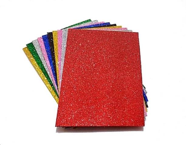 SelectionWorld Glitter Foam (Pack Of 10) Unruled A4 180 gsm Coloured Paper