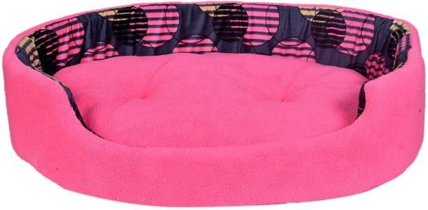 PILA BRASILEIRO Round Pet Sofa Shape Reversable Dual Ultra Soft Ethnic Designer Velvet Bed for Dog/Cat Easy Washable S Pet Bed