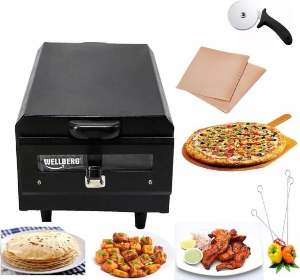 Wellberg Multi Purpose Tandoor for Kitchen/Pizza/Cake/Naan/Bati/Barbecue Griller Maker Pizza Maker
