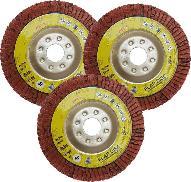 Inditrust High Quality 4inch 3pc Flap Wheel Set 80 Grit 100X16mm Metal Polisher