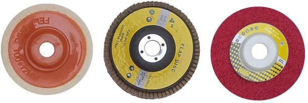 Inditrust High Quality 4inch 3pc Wheel set 1pc Flap 1pc Felt and 1pc Buffing Wheel set Metal Polisher
