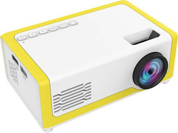 BabyTiger 320*240 resolution mini projector, 1080P video player 1000 lm LCD Corded Portable Projector