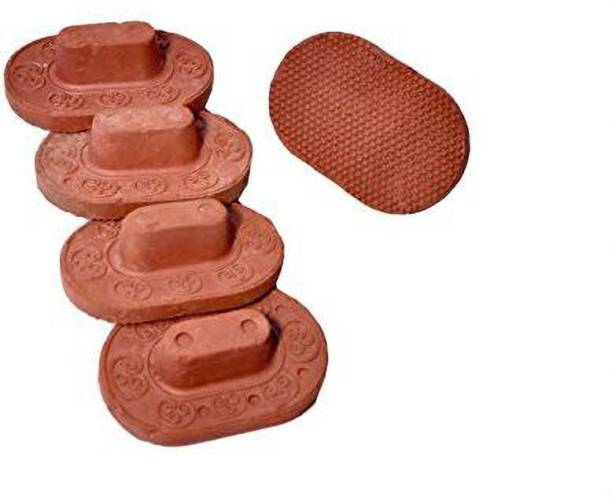 Newai Clay/Terracotta Foot Scrubber Pack of 5pcs