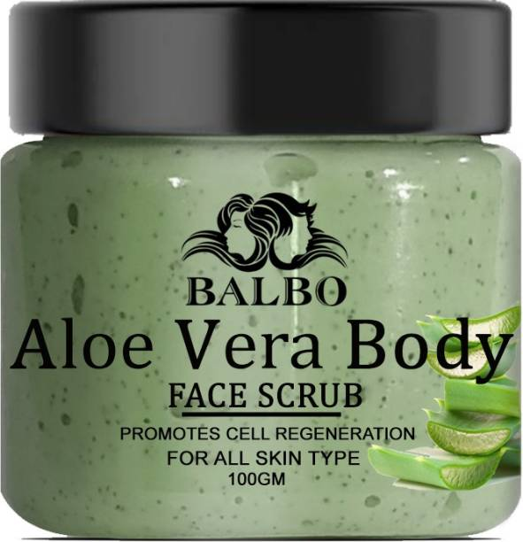 BALBO Aloe Vera Face and Body Scrub Promotes Cell Regeneration for All Type of Skin Scrub