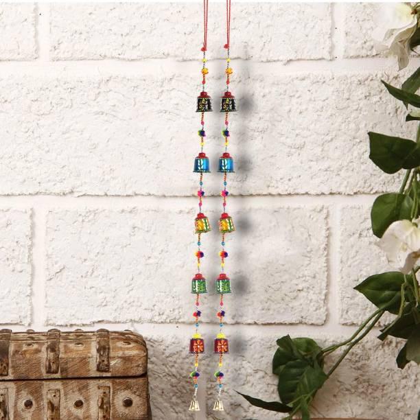 DreamKraft Paper Mache Decorative Bell Hangings Toran