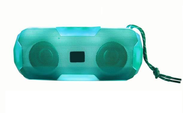 NEFI A006 Bluetooth Speaker Portable Wireless High Power Sound Blast Stereo Bass with USB/FM/TF Card & RGB Light HD Audio for Car/Laptop 5 W Bluetooth Speaker