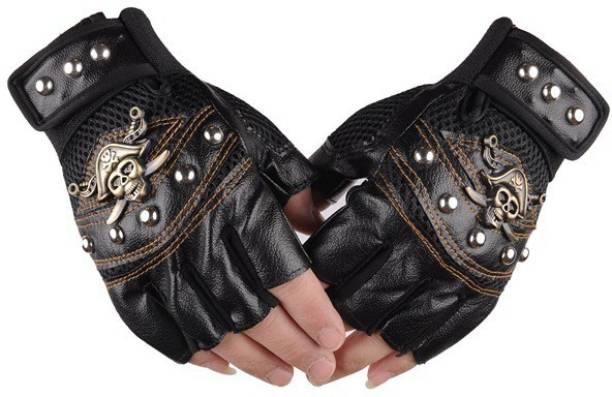 AlexVyan Black.Pirates Gym & Riding Anti Slip Cycling Bike Motorcycle Driving Man Boy Girls Riding Gloves