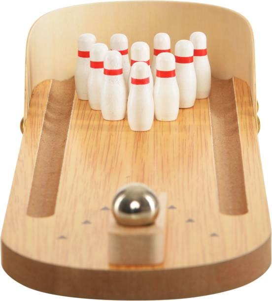 Trinkets & More - Miniature Bowling Ball Game | Desktop Office Indoor Games | Corporate Training and Workshop | Stress Relief for Adults and Kids Bowling