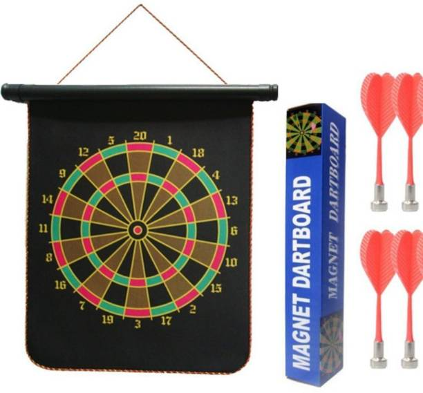 TEMSON Foldable High Quality Magnetic Dart Game With 4 Colourful Non Pointed Darts. Archery Kit