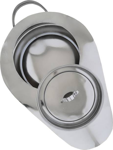 AMAZECARE Medical Reusable Male Bed Pan With Lid Made From Heavy Stainless Steel Urine Pot