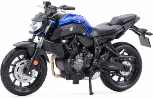 Maisto 1/18 Scale Model Compatible with Yamaha MT-07 2018 (Blue)