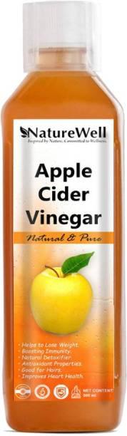 Naturewell Organics Organic Apple Cider Vinegar - Raw, Unfiltered with Mother Vinegar (500ML/OR)Ultra Vinegar