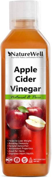 Naturewell Apple Cider Vinegar For Weight Loss With Mother Of Vinegar Vinegar (500ML/RE)Premium Vinegar