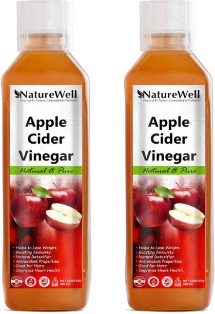 Naturewell Apple Cider Vinegar For Weight Loss With Mother Of Vinegar Vinegar (500MLX2 /RE)Ultra Vinegar