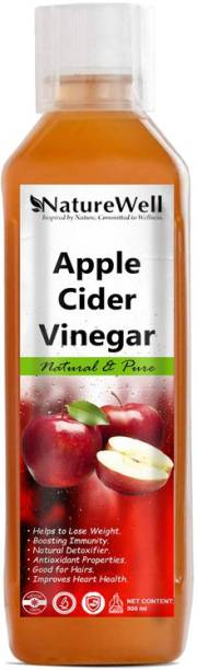 Naturewell Apple Cider Vinegar For Weight Loss With Mother Of Vinegar Vinegar (500ML/RE)Pro Vinegar