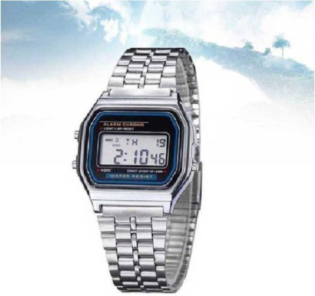 RBSFLOZIO Watches silver chain-dial Digital Watch - For Men GOOD QUALITY PRODUCT GOOD AND FAST SERVICE Digital Watch - For Boys ( pack of 1) Digital Watch  - For Men