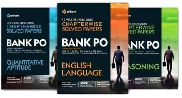 Bank PO English Language, Reasoning,Quantitative Aptitude 17 Years Chapterwise Solved Papers 2016 - 2000 (Pack of 3)