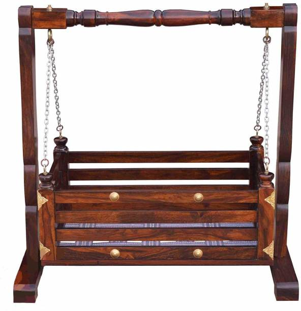Woodware Wooden Cradle | Sheesham Wood Cradle | Cradle | Palna | Wooden Palna | Jhula for kids | Kids bed| small bed| Jhula Solid Wood Loft Bed