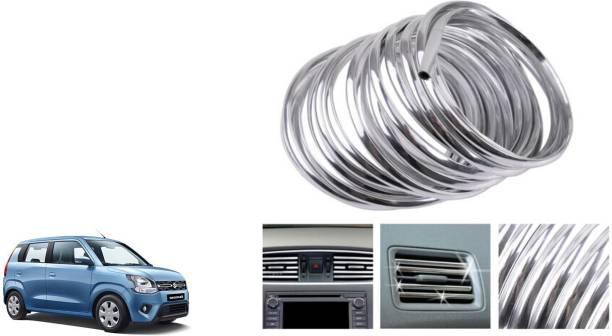 TAKECARE AC Vent/Car Edges Chrome Styling Edge Guard Chrome_8 Chrome Maruti WagonR Front Garnish