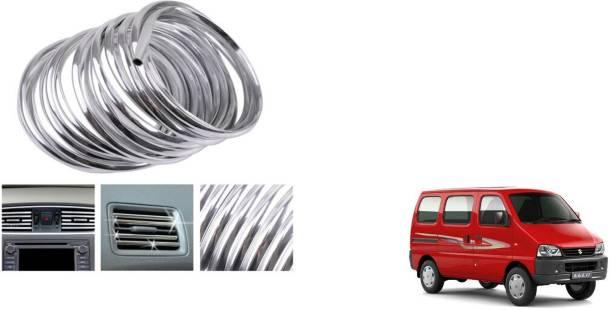 MADMEX AC Vent/Car Edges Chrome Strips Styling Edge Guard Chrome_10 Chrome Maruti Eeco Front Garnish