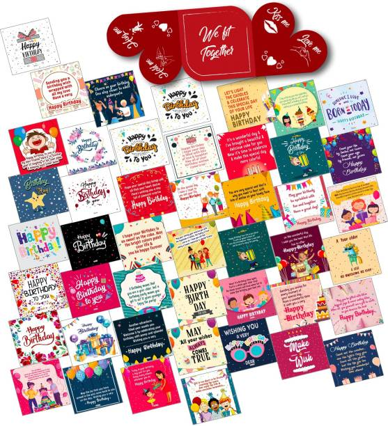 ODDCLICK Set of 49 Birthday Cards For Explosion Box or Other DIY Love Greeting Cards Greeting Card