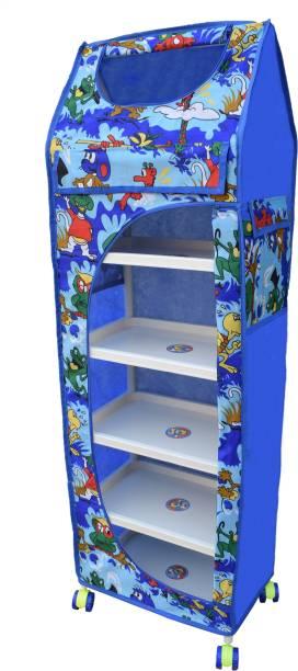 LOOKNSNAP 6 Shelves Multipurpose PVC Collapsible Wardrobe