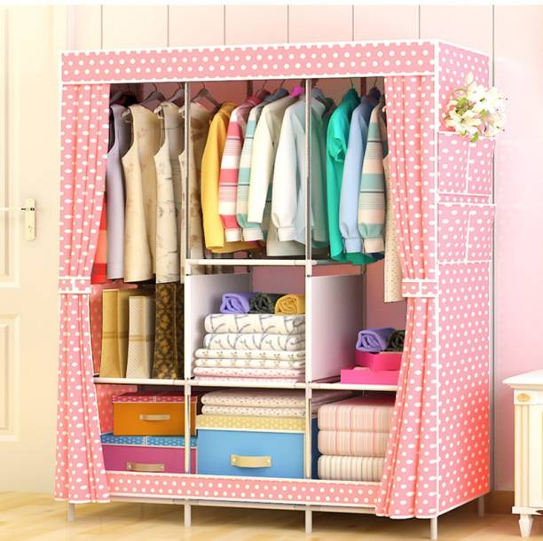 Montreal JBY-88130 Fancy & Portable (Pink) PP Collapsible Wardrobe