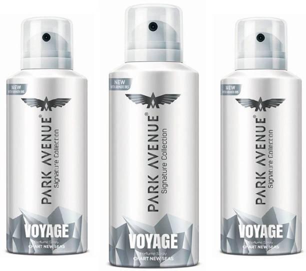 PARK AVENUE VOYAGE Pack of 3 (130 ml each) Deodorant Spray  -  For Men