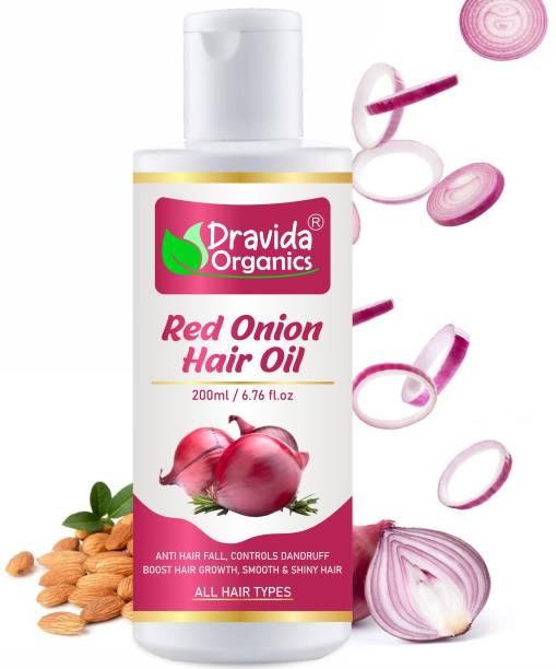 Dravida Organics Red Onion Hair Oil - Hair Regrowth & Hair Fall Control Hair Oil