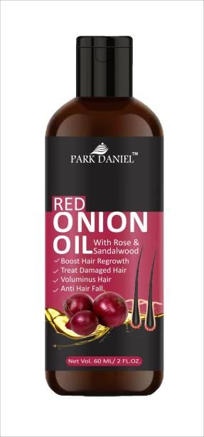 PARK DANIEL 100% Pure & Natural RED ONION OIL- For Hair Regrowth & Anti Hair fall Hair Oil