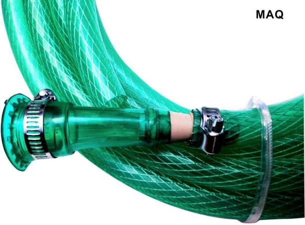 "MAQ 10 Meter 1/2"" Inch PVC Green Braided Hose Pipe Suitable For Gardening, Car Wash , Bike Wash & Multi-Purpose 0.5 Inch Braided Hose Pipe Hose Pipe"