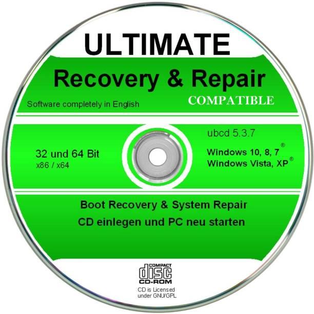Compatible Ultimate Boot & Repair CD Windows 10,8,7,XP, Diagnose & Reparatur Software