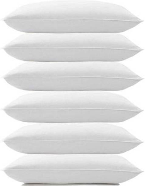 DYAANK Cotton Solid Sleeping Pillow Pack of 6