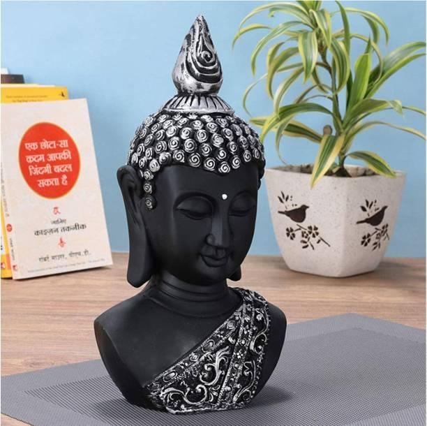 Craft Junction Handpainted Beautiful Lord Gautam Buddha Face Decorative Showpiece  -  28 cm