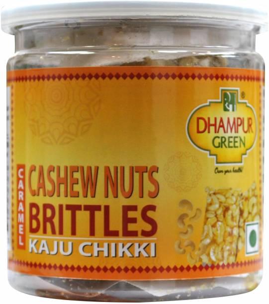 Dhampure Speciality Caramel Kaju Til Chikki Jar – Cashew Nuts Brittles Mason Jar