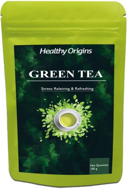 Healthy Origins Nutrition Green Tea for Weight Loss | 100% Natural Green Loose Leaf Tea | Pure Green Tea with No Additives Unflavoured Green Tea Pouch Pro (DG) Unflavoured Green Tea Pouch