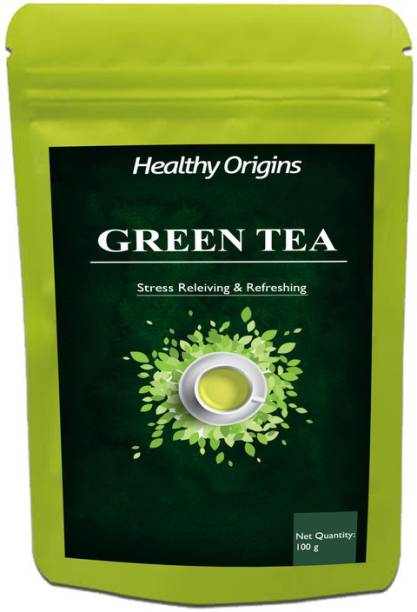 Healthy Origins Green Tea for Weight Loss | 100% Natural Green Loose Leaf Tea | Pure Green Tea with No Additives Unflavoured Green Tea Pouch Ultra Unflavoured Green Tea Pouch
