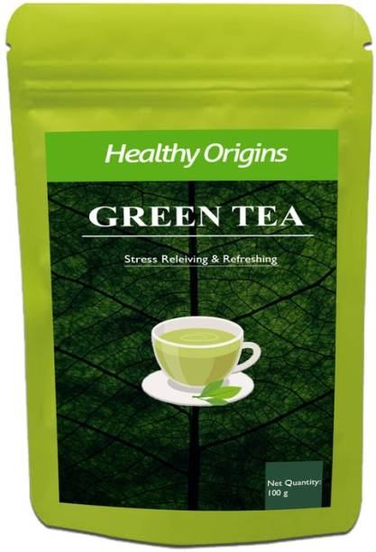 Healthy Origins Green Tea for Weight Loss | 100% Natural Green Loose Leaf Tea | Pure Green Tea with No Additives Unflavoured Green Tea Pouch Premium (L) Green Tea Pouch