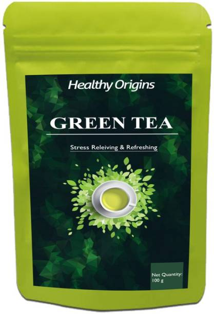 Healthy Origins Green Tea for Weight Loss | 100% Natural Green Loose Leaf Tea | Pure Green Tea with No Additives Unflavoured Green Tea Pouch Ultra (DG) Unflavoured Green Tea Pouch